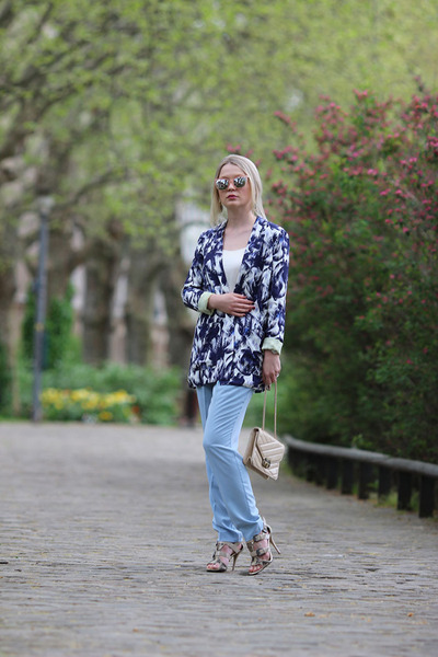 River Island jacket - asos sunglasses - River Island pants - Guess heels