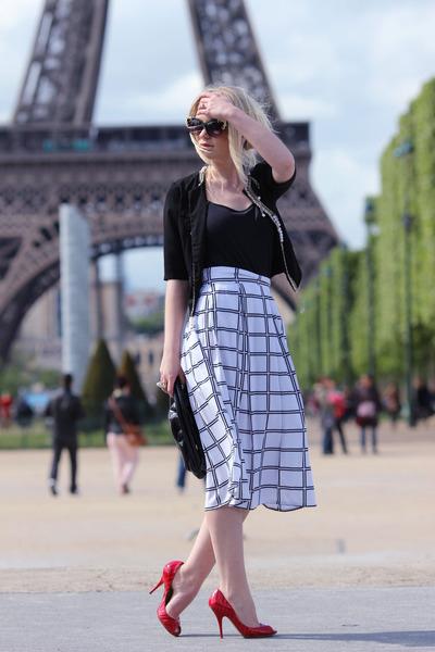 Zara blazer - Furla bag - Topshop sunglasses - Casadei heels