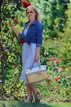 Zara dress - Zara shirt - Guess bag - asos sunglasses - Guess heels