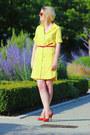 Zara-dress-parfois-sunglasses-casadei-heels-h-m-belt