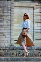 La Redoute shirt - Zara skirt - Guess heels