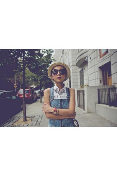 7 for all mankind dress - Anthropologie hat - Karen Walker sunglasses