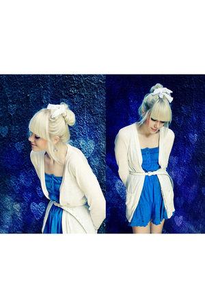 blue  blue dress with floral detailing NewYorker dress