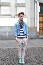 vintage jacket - Zara pants - H&M t-shirt - Converse sneakers
