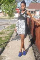 Zac Posen dress - Forever21 vest - Bakers heels