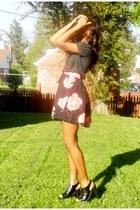 Forever21 top - H&M skirt - Steve Madden heels