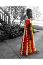 orange hawaiian dress