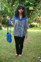 top - jeans - purse