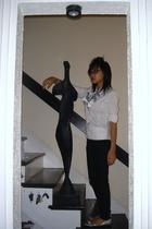 Tahari shirt - Cheap Monday pants - Juicy Couture shoes