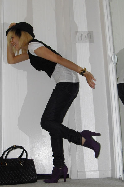 Goorin hat - Nine West shoes - vest - Cheap Monday jeans - Marino Orlandi purse