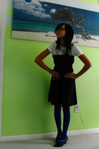 free people dress - forever 21 tights - volcom t-shirt - Punkrose shoes