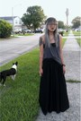 Black-maxi-free-people-skirt-charcoal-gray-tank-top