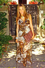 Tawny-dress-dress-brown-clutch-haute-rebellious-bag-silver-haute-rebelli