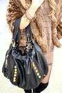 Brown-soho-coat-black-h-m-hat-brown-haute-rebellious-sweater-black-h-m-tig
