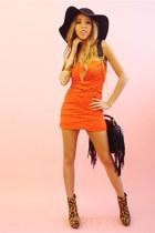 carrot orange strapless dress HAUTE & REBELLIOUS dress