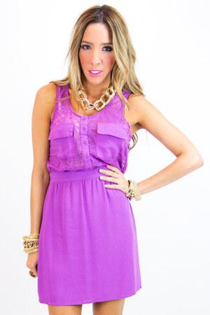 light purple lace HAUTE & REBELLIOUS dress