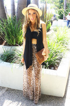 beige leopard chiffon HAUTE & REBELLIOUS pants