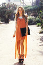 Burnt-orange-haute-rebellious-dress-black-haute-rebellious-bag