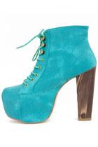 aquamarine HAUTE & REBELLIOUS boots