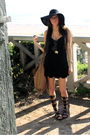 Black-ventage-from-panama-dress-steve-madden-shoes-zara-purse-street-vendo