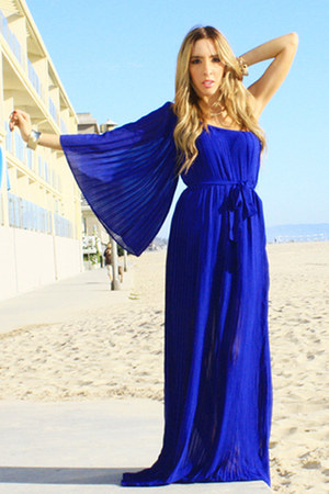 blue chiffon dress HAUTE & REBELLIOUS dress