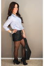 Black-random-boutique-skirt-blue-f21-shirt