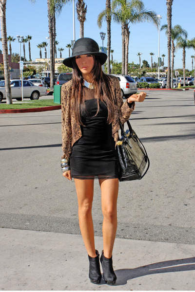 Lush jacket - H&M dress - michael antonio shoes - H&M hat - H&M bracelet