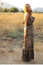 dark brown boho floppy hat HAUTE & REBELLIOUS hat