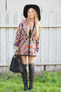 Tribal-print-haute-rebellious-cardigan