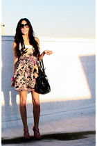 pink Forever 21 dress - pink downtown la shoes