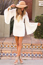 White-haute-rebellious-dress-bronze-flopy-hat-aldo-hat