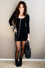 Black-american-apparel-dress-black-tights-silver-silver-necklace-downtown-