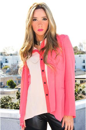 hot pink HAUTE & REBELLIOUS blazer