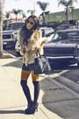 Light-pink-h-m-blouse-tan-forever-21-vest-black-shorts-black-target-tights