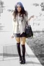 Light-pink-h-m-blouse-tan-forever-21-vest-black-shorts-black-target-tights