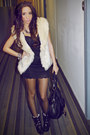 Black-dress-eggshell-vest-black-boots