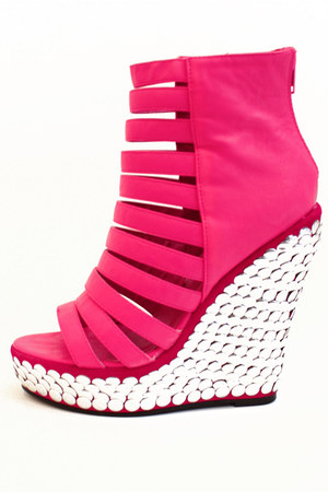 hot pink HAUTE & REBELLIOUS wedges