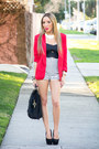 Red-haute-rebellious-blazer-black-haute-rebellious-bag
