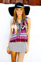 black American Apparel hat - white HAUTE & REBELLIOUS skirt - silver HAUTE & REB