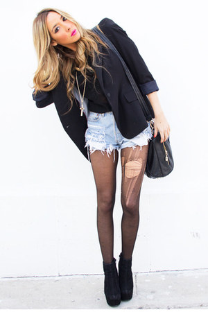 black HAUTE &amp; REBELLIOUS blazer - black studded HAUTE &amp; REBELLIOUS bag