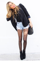 black HAUTE & REBELLIOUS blazer - black studded HAUTE & REBELLIOUS bag