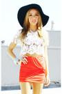 Off-white-haute-rebellious-blouse-black-floppy-hat-haute-rebellious-hat
