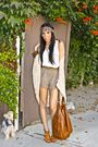 Beige-lush-sweater-white-final-touch-blouse-brown-cupid-shoes-brown-h-m-pu
