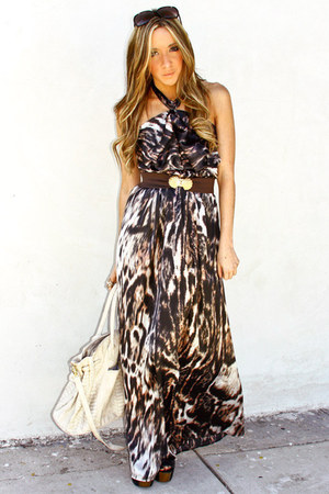 ivory H&R VENDOR bag - dark gray maxi dress H&M dress