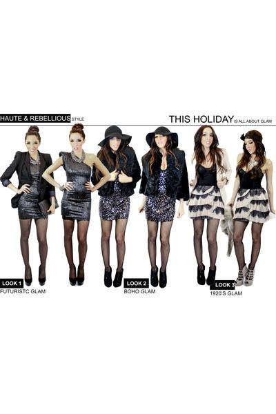 MDLC dress - H&M coat - H&M dress - Zara blazer