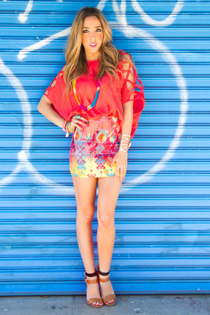 HAUTE & REBELLIOUS skirt - HAUTE & REBELLIOUS blouse - Zara heels