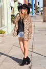 Tan-faux-fur-haute-rebellious-coat-black-wool-haute-rebellious-hat