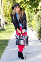 black HAUTE & REBELLIOUS bag - red HAUTE & REBELLIOUS jeans
