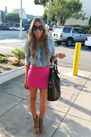 hot pink HAUTE & REBELLIOUS skirt