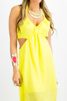 Yellow Chiffon HAUTE & REBELLIOUS Dresses